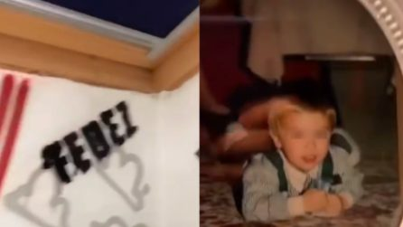Fedez mostra la sua cameretta di quando era adolescente: ci sono foto di lui da bambino
