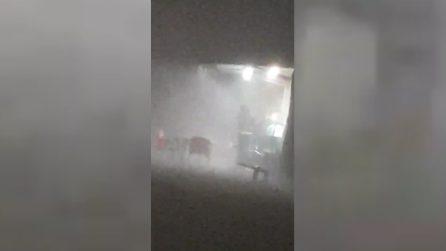 Catania, le immagini del violento nubifragio in città