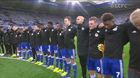 Leicester, due minuti di silenzio surreale e calciatori in lacrime