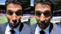 """""""Sono molto contento di essere qui con voi"""": Gigi Buffon saluta i tifosi del Psg"""