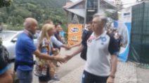 Napoli: l'arrivo della squadra e di Ancelotti all'hotel di Dimaro