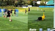 Inter in ritiro: Nainggolan fa il cucchiaio in allenamento