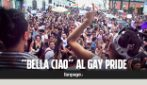 """Napoli, partigiano sale sul carro del Pride: """"Bella ciao"""" contro le discriminazioni con i migranti"""