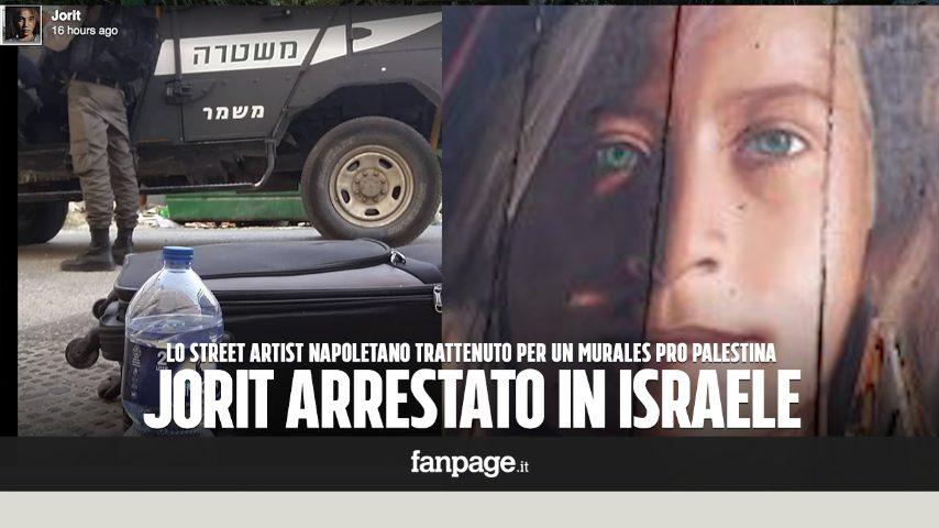 Jorit Arrestato In Israele Per Murale Pro Palestina Lasciati Per Ore Al Freddo E Senza Cibo