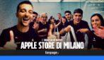 Il primo ingresso nel nuovo Apple Store di Milano