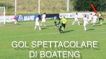 Super Boateng in partita: salva un gol in rovesciata e segna con un colpo di tacco precisissimo
