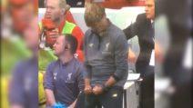 Il Liverpool segna e Klopp non si trattiene: la stravagante esultanza dell'allenatore
