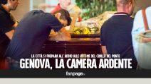 Crollo ponte Genova, il dolore dei parenti delle vittime alla camera ardente