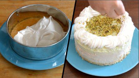 Come preparare la torta gelato nocciola e pistacchio