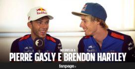 """Pierre Gasly e Brendon Hartley prima del Gran Premio: """"Eccitati per la corsa di Monza"""""""