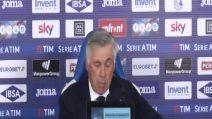 """Napoli, Ancelotti: """"Primo tempo negativo, non sempre si può rimontare"""""""