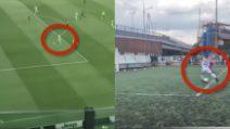 Cristiano Ronaldo emula suo figlio: gol dalla stessa posizione