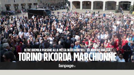 """Sergio Marchionne, 2mila persone ricordano il manager Fiat a Torino: """"Vigliacco chi lo ha criticato"""""""