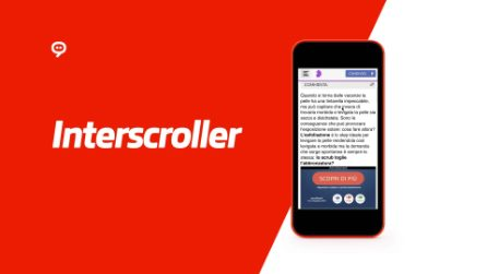 Interscroller mobile realizzato per Carrefour