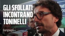"""Crollo ponte Genova, gli sfollati al ministro Toninelli: """"Vogliamo tempi certi"""""""