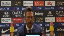"""Roma, Di Francesco: """"Non mi sento messo in discussione. Sono qui per la squadra"""""""