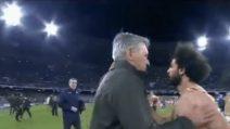 Napoli-Liverpool, cosa è successo a fine gara tra Ancelotti e Salah