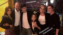 Stefano Bettarini e Nicoletta Larini insieme a Simona Ventura per il compleanno di Niccolò