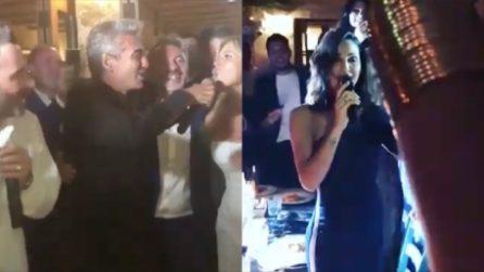 Il karaoke delle star al matrimonio di Ferdinando Salzano e Barbara Zoggia