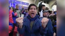 Zamorano scoppia di gioia al gol di Icardi: l'esultanza sfrenata dell'ex Inter