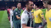Manchester United-Juventus giocata su Fifa 19: la vittoria è netta