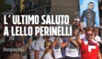 Calciatore ucciso a Napoli con coltellata, dolore ai funerali di Lello Perinelli