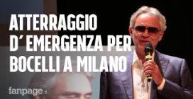 Atterraggio d'emergenza per Bocelli a Milano: parte in ritardo la presentazione di Sì