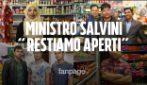 """Matteo Salvini e la chiusura dei negozi etnici, l'appello: """"Siamo per la sicurezza, facci lavorare"""""""