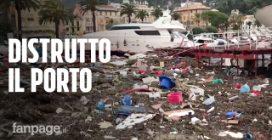 """Maltempo Rapallo: """"strage"""" di yacht al porto, danni anche alla barca di Berlusconi"""