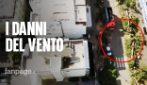 Maltempo Terracina, i danni visti dal drone: decine di alberi abbattuti e danni ai palazzi