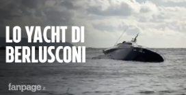 Maltempo, lo yacht di Pier Silvio Berlusconi semi-affondato a Rapallo dopo il maltempo