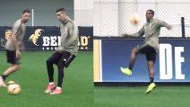 La Juve in tutto il suo splendore in allenamento: Douglas Costa è fantastico