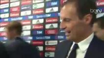"""Gol annullato alla Juve, Allegri prende in giro l'arbitro di porta: """"In bocca al lupo Massa"""""""