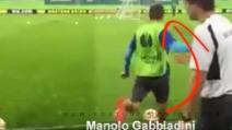 Colpo da maestro di Gabbiadini: effetto a rientrare con l'esterno e gol da dietro la porta