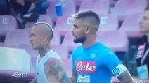 Napoli-Roma 1-3, Nainggolan infortunato esulta zoppicando per il gol
