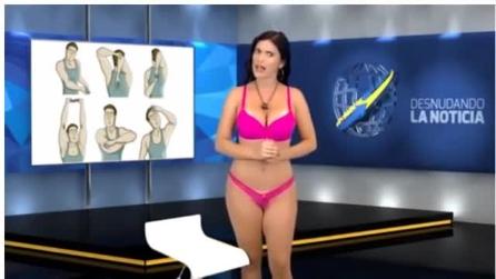 Apresentadora tira a roupa ao vivo durante telejornal: a cena absurda vista pelos telespectadores