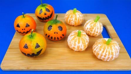 Zucche di Halloween: l'idea veloce e originale da realizzare con i mandarini