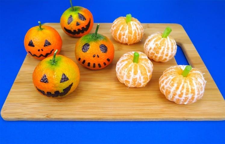 Zucche Di Halloween Terrificanti.Zucche Di Halloween L Idea Veloce E Originale Da Realizzare Con I Mandarini