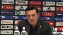 """Montella sulla prestazione del Milan: """"Vittoria sofferta"""""""