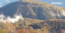 """Terremoto, la conca amatriciana si riempie di fumo dopo la scossa: """"Una cosa spaventosa"""""""