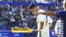 I tifosi avversari cantano contro Cristiano Ronaldo, lui risponde con un gesto eloquente