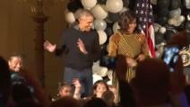 Barack Obama balla Thriller con sua moglie Michelle alla Casa Bianca