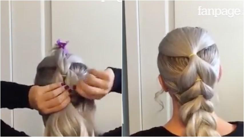 treccia finta per capelli