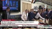 Russia, la Duma applaude all'elezione di Trump: festa a base di champagne