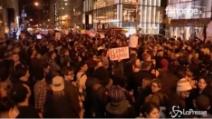 "Proteste anti-Trump a New York: ""Not My President"""