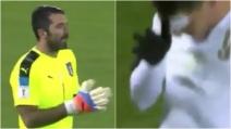 Liechtenstein-Italia 0-4, doppietta di Belotti: Gigi Buffon applaude al gol