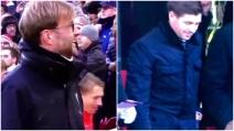 Liverpool, Gerrard torna ad Anfield: l'eloquente reazione di Klopp in panchina