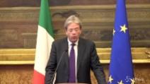"""Consultazioni, Gentiloni: """"Grazie chi darà sostegno e chi farà opposizione"""""""
