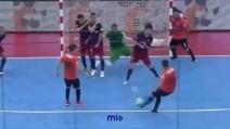 Lo schema su punizione è geniale: gran gol nel calcio a 5