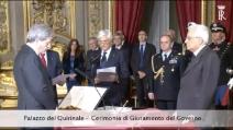 Il giuramento del Presidente del Consiglio incaricato Paolo Gentiloni